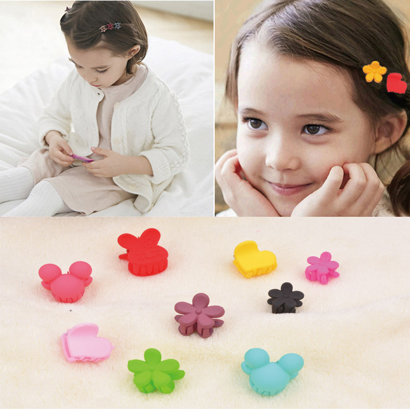 20Pcs Colorful Assorted Small Hair Clips Mini Hair Pin Cute Claws Clamps Decor For Girls Many Shapes Simple Design Hair Ornament