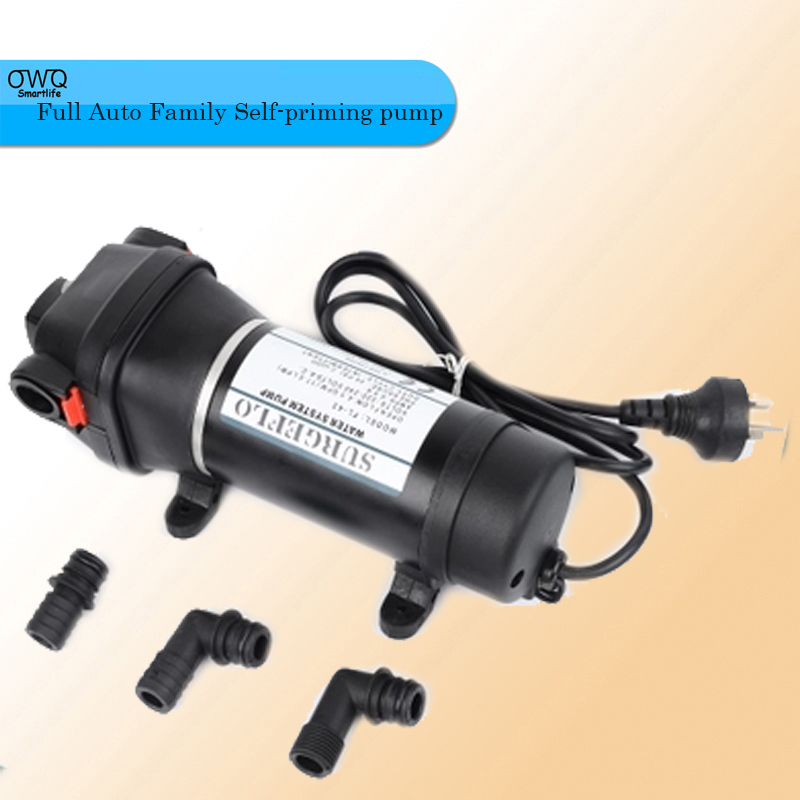 FL-43 220V AC Full Auto Family Self-priming pump Membrane To The Water Heater Trail Pipeline of Water Supply sz060 good quality home use small stainless steel water pump jet self priming centrifugal pump circulating pump factory supply