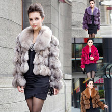 ETHEL ANDERSON 100% Genuine Real Fox Fur Jackets & Coats With Fox Fur Collar For Luxury Vintage Ladies Short Fox Fur Outerwear(China)