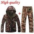 Высокое качество TAD V 4.0 мужчины открытый охота кемпинг водонепроницаемый ветрозащитный полиэстер пальто куртка с капюшоном TAD куртка softshell + брюки