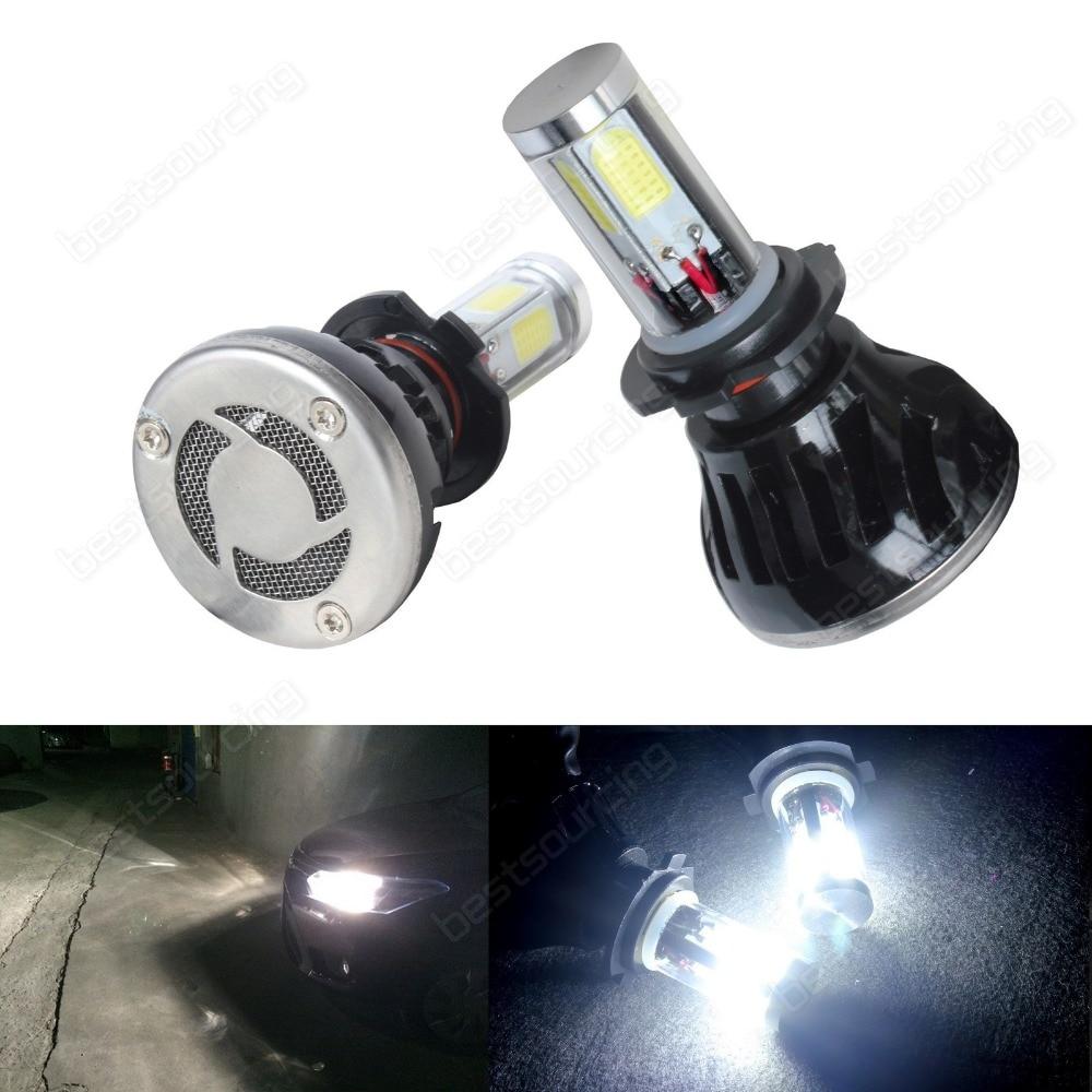 2x H7 High Power 40W COB LED White 6000K Headlight Daytime Fog Driving Light DRL(CA242)