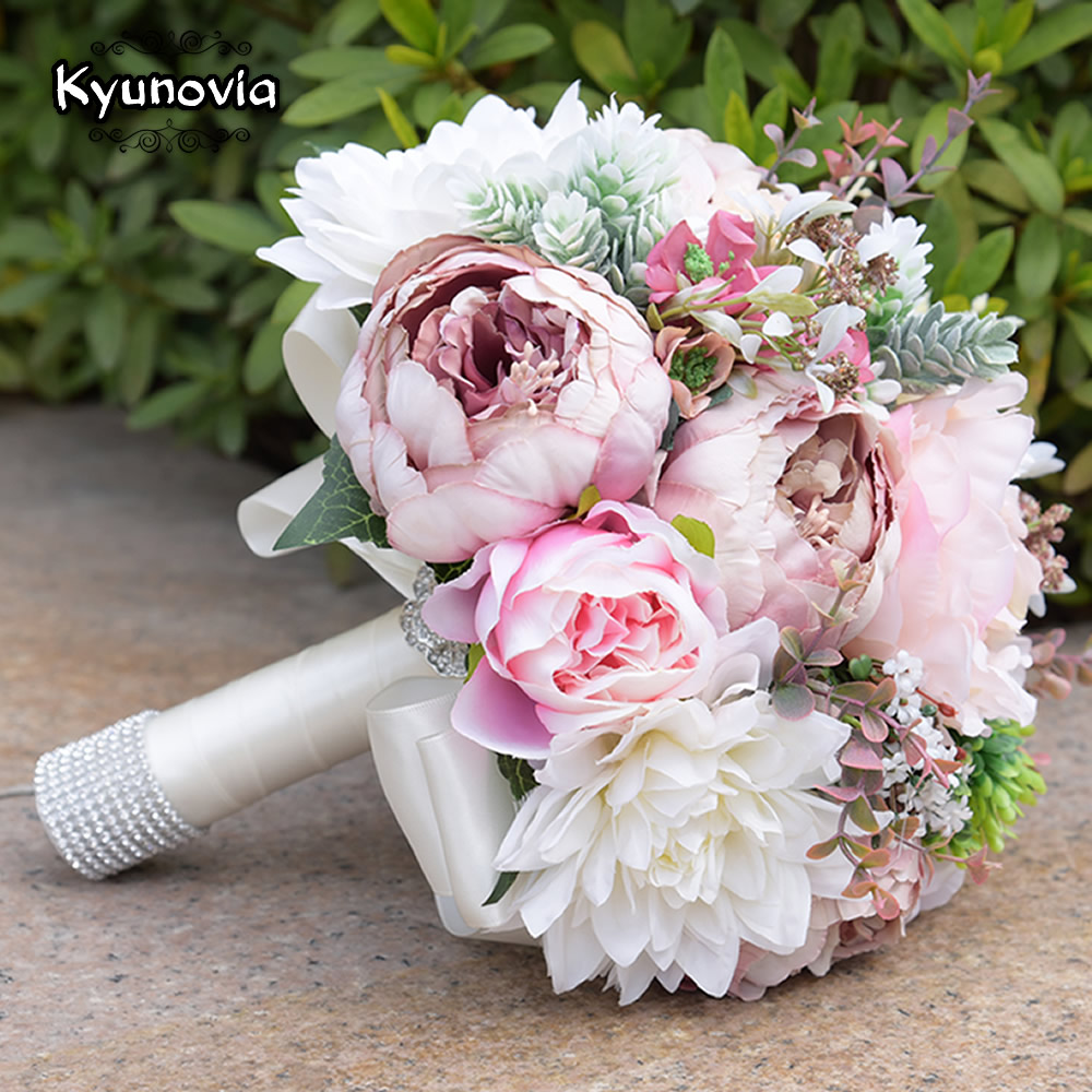 Kyunovia pink real touch flowers peony bouquets for wedding peonies silk flower artificial peony flowers purple red bridal bouquet fake leaf for wedding home party decoration izmirmasajfo