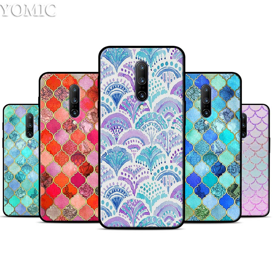 Mandala Flower Datura Fashion Shell Silicone Case for font b Oneplus b font font b 7