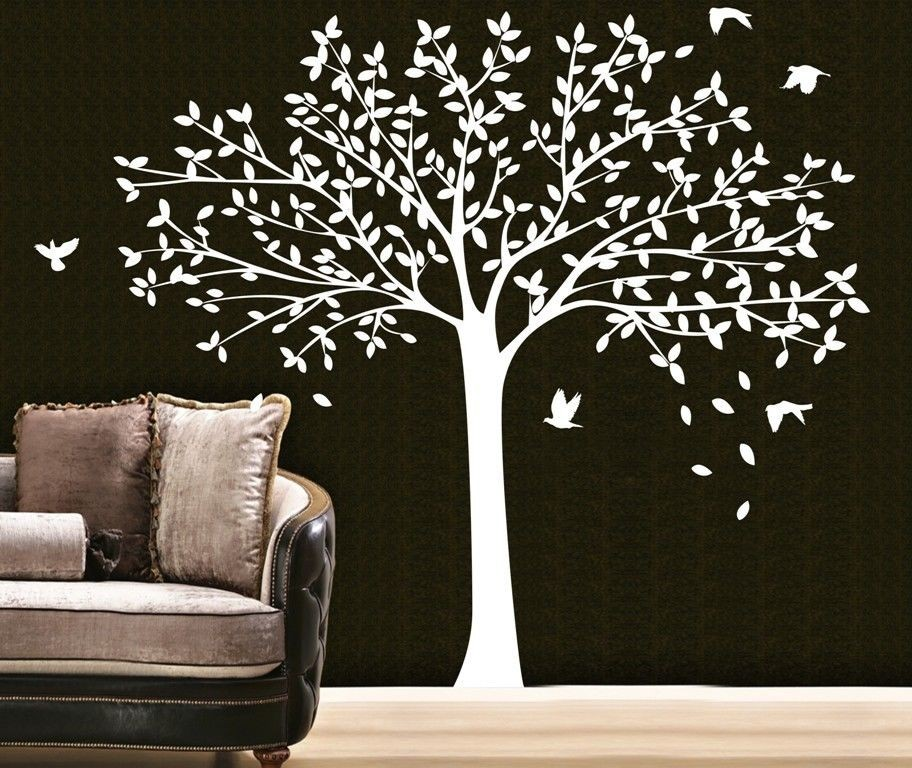 big size family photo frame tree wall stickers decor for baby kids