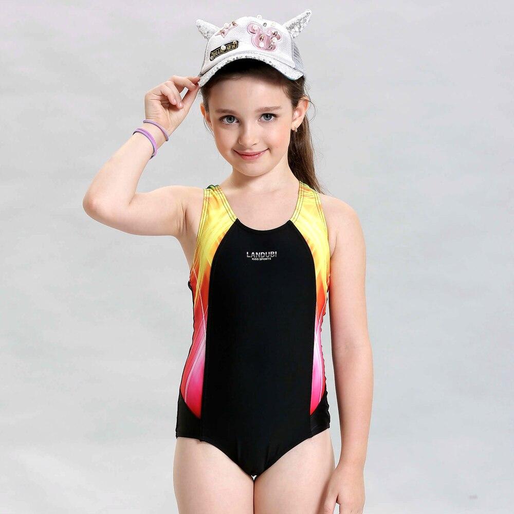 2016 sport delle ragazze costume da bagno di nuoto per bambini vestiti di un pezzo costumi