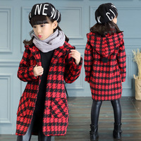 Girls Windbreaker Coat Spring And Autumn In The Long Section Of Big Children S Jacket 2017