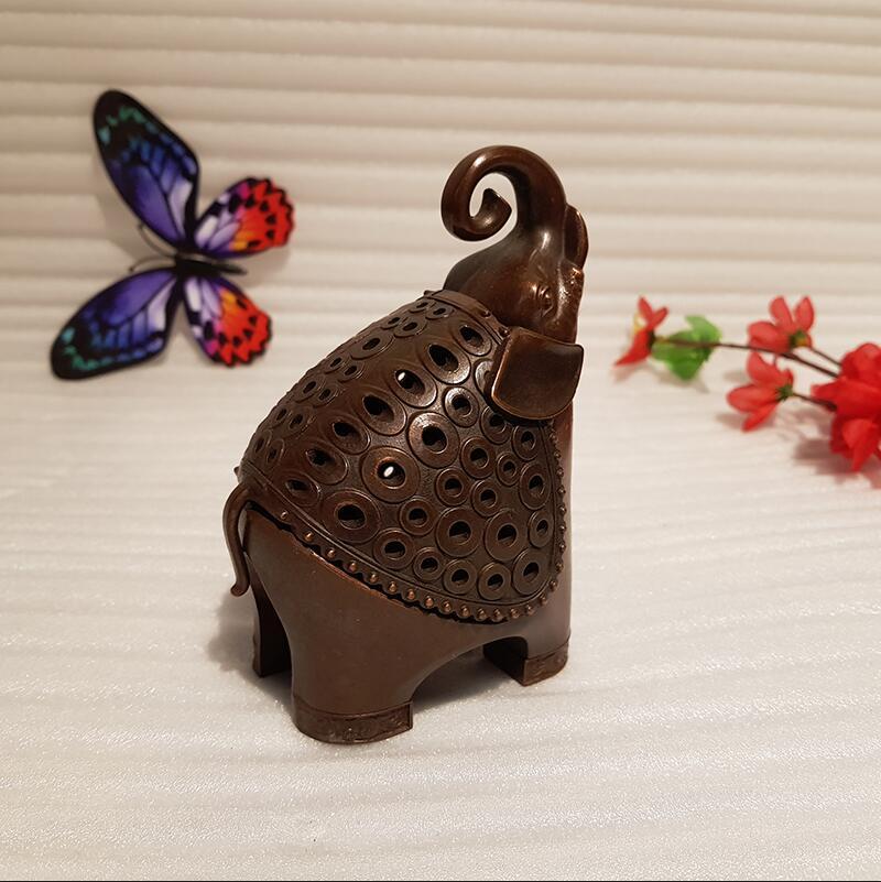 Antique Chinese Elephant Incense Burner (7)