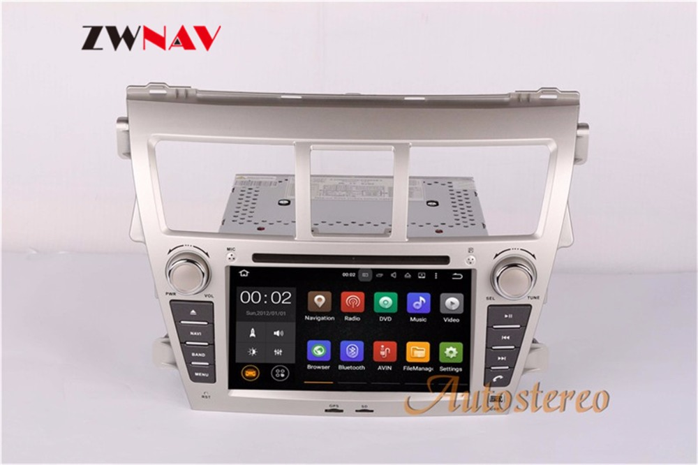 Sale ZWNAV Android 8.0 Car Stereo Radio DVD Player GPS Navigation For TOYOTA Yaris Sedan 2006-2012 Vios 2007-2012 Belta 2005-2008 2