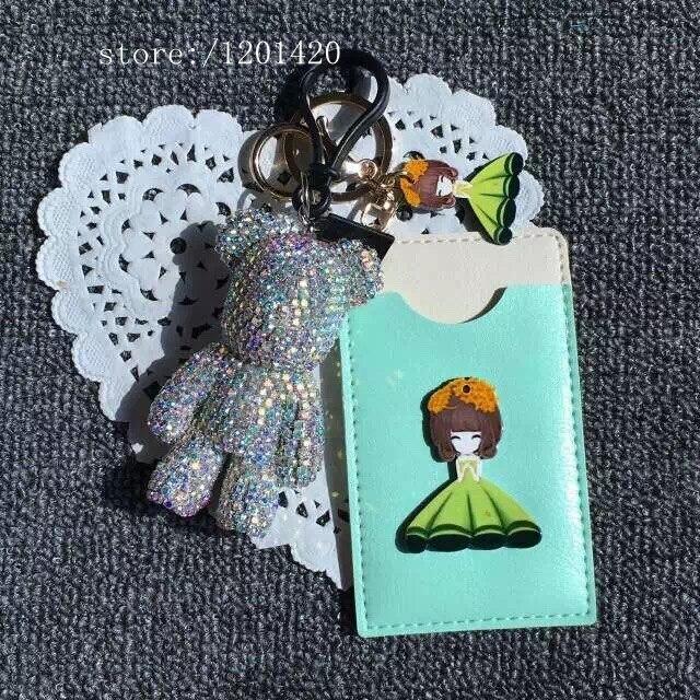 Мода хрустальный медведь брелки автомобилей брелок уникальная сумка очарование женщины сумочку шарм сумка ошибка бумажник кошелек шарм девушке подарок