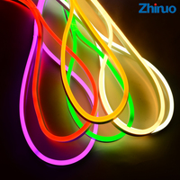 ZHINUO Waterproof AC220V 2835 Neon Led Strip Light 120LEDs/m 5M 10M 15M 20M IP65 Flexible Fairy Lighting EU Plug Led Sign Board