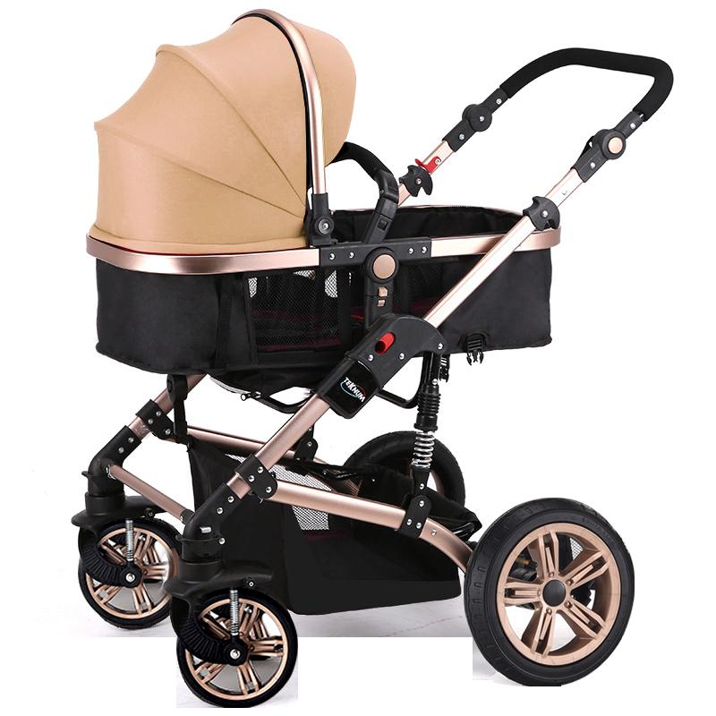 Teknum baby stroller can sit on the high way four wheel folding landscape in winter and summer baby cart