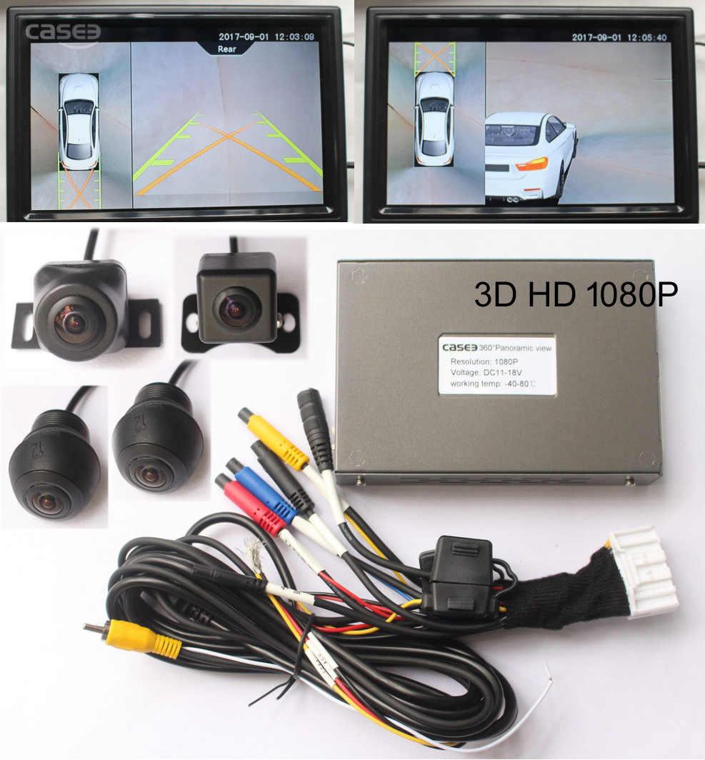 3D 360 градусов Автомобильный Круглый вид камера динамическое отслеживание заднего хода Направляющая линия опционально, поддержка экран на базе Android AHD сенсорный экран