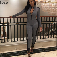 Jumpsuit Long Pants Women Rompers Long Sleeve 2017 Solid Sexy Night Club Elegant Slim Jumpsuits Overalls