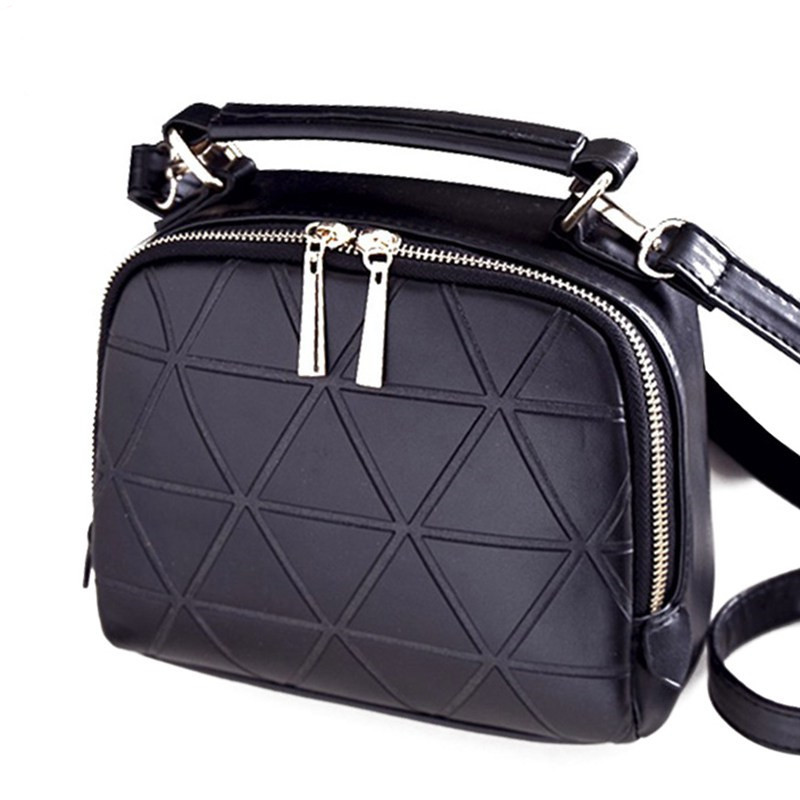 New Fashion Women Solid PU Leather Handbag High Quality Chain Shoulder Lady Messenger Bag Candy Color Crossbody Bags