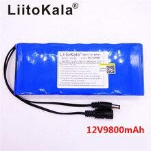 HK LiitoKala 12V 9800mAh 18650 DC 12V 12.6V Super akumulator Pack dla KAMERA TELEWIZJI PRZEMYSŁOWEJ wideo akumulator przenośny