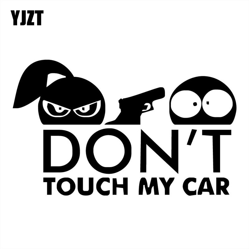 YJZT 15X9CM DON'T TOUCH MY CAR Boy And Girl Funny Car Sticker Vinyl Decals Black/Silver S8-0032 hot sale 1pc longhorn hilux 900mm graphic vinyl sticker for toyota hilux decals badges detailing sticker car styling accessories