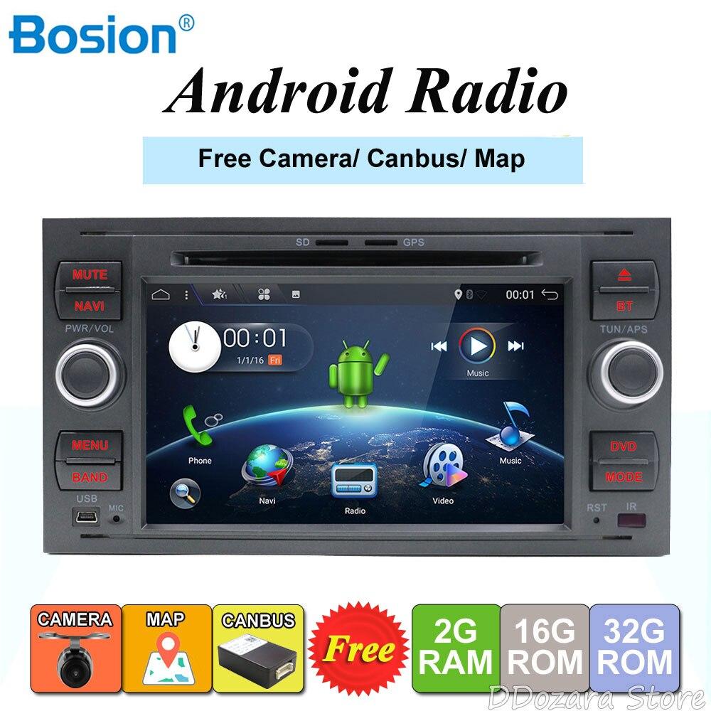 2 din Android 8.0/8.1 Quad Core Voiture lecteur dvd gps Navi pour FORD FOCUS/MONDEO/C-MAX Audio Radio autoradio stéréo Livraison Canbus
