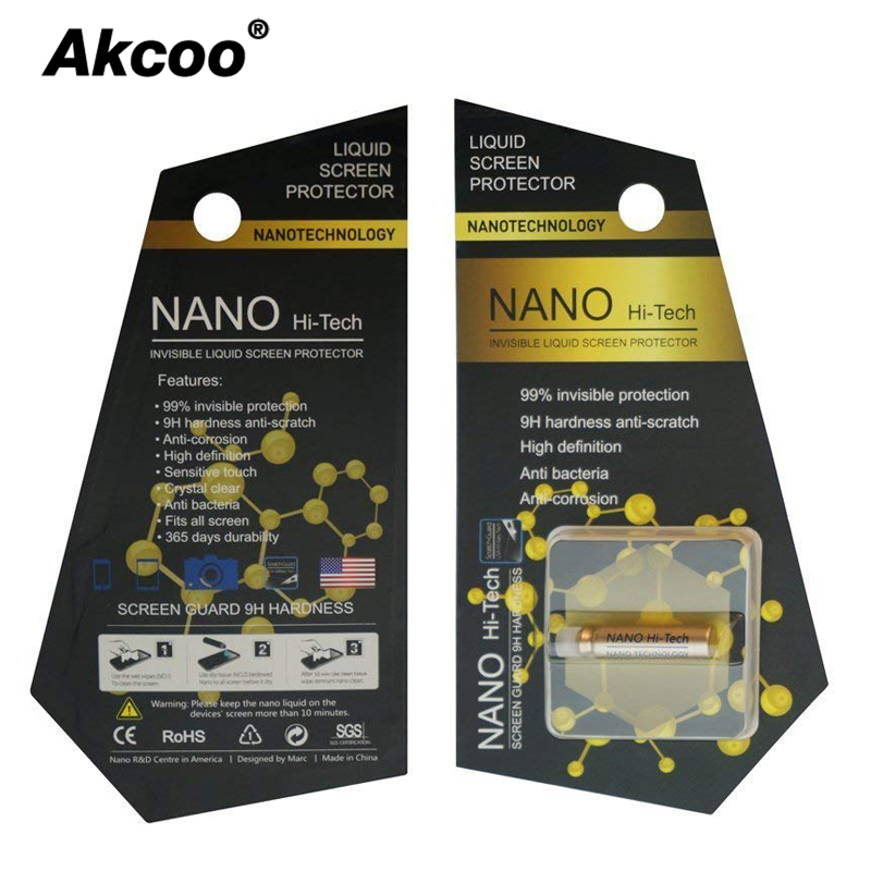 2Ml Nano Liquid Screen Protector For IPhone 7 8 6 XS Max XR 10 Full Cover Invisible Film For Samsung S8 9 Full Glue For Xiaomi