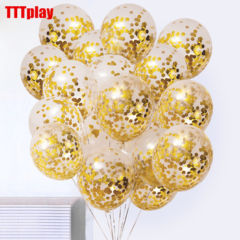 5pcs/lot Clear Balloons Gold Star Foil Confetti Transparent Happy Birthday Baby Shower Wedding Party Decorations Ballon