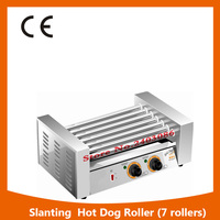 Hot Sale Commercial 7 Rollers Double Temperature Control Sausage Grill Hotdog Machine Hotdog Roaster Machine