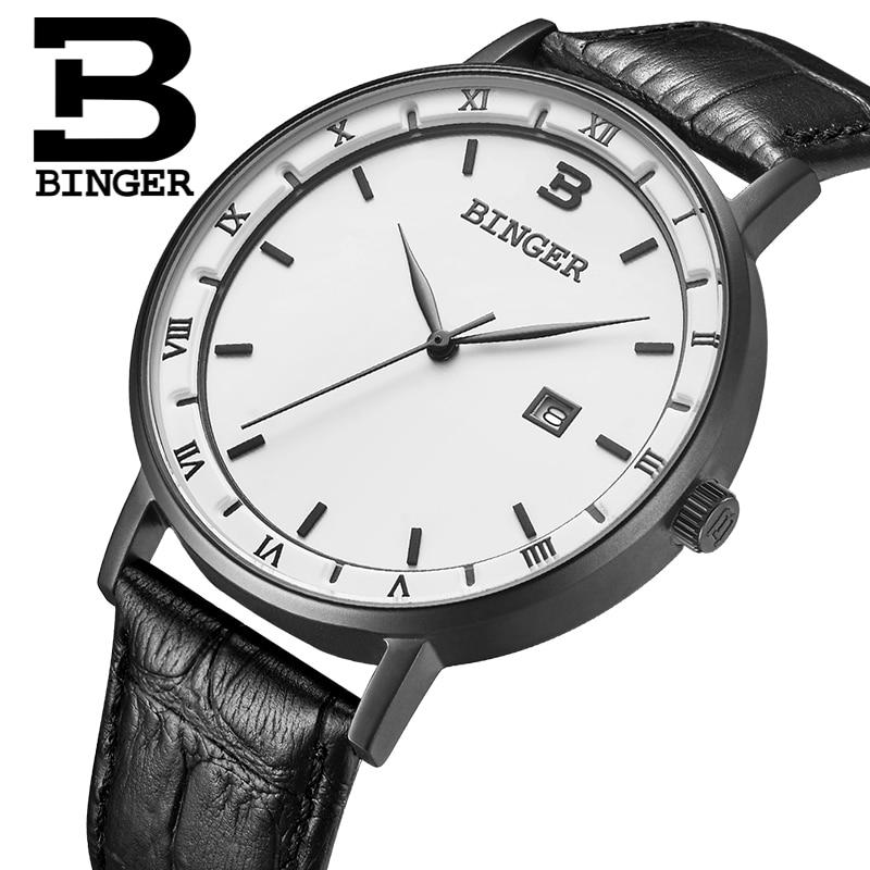 Japan Miyota Movement Switzerland BINGER Men Watches Luxury Brand Watch Men Quartz reloj hombre Waterproof Wristwatches B2001M-2 все цены