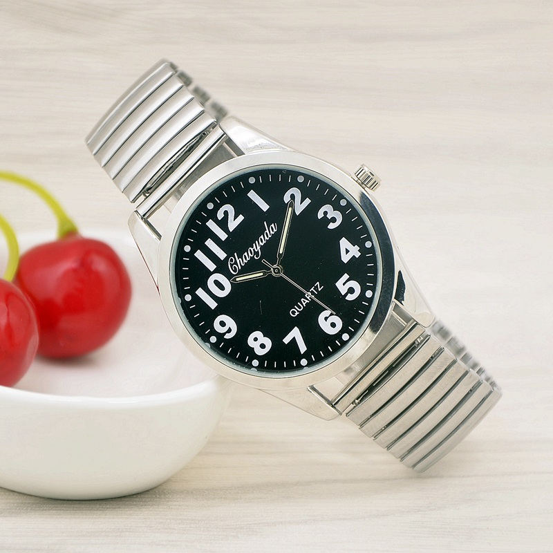New Fashion women dress watches stainless Steel Elastic band Quartz Watch Lovers vintage Watches Elderly Watches Reloj Hombre muhsein hot sellingnew lovers quartz watches stainless steel watch business women dress watches for couples free shipping