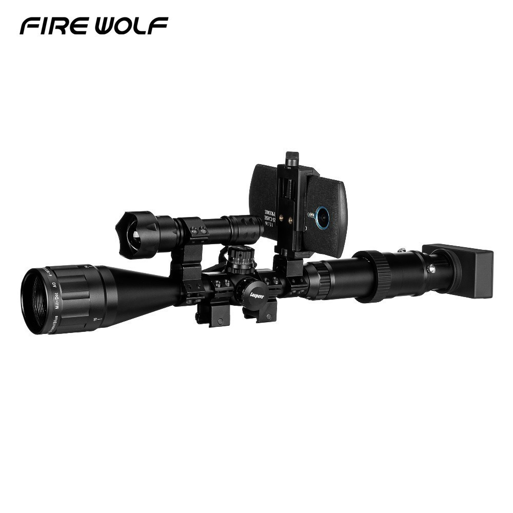 Wireless Night Vision Outdoor Scope Optics Sight Tactical Digital Infrared With Connection Phone Flashlight Riflescope Hunting spina optics 4x50 night vision sight monocular scope nvmt spartan riflescope 300m hunting nightvision devices