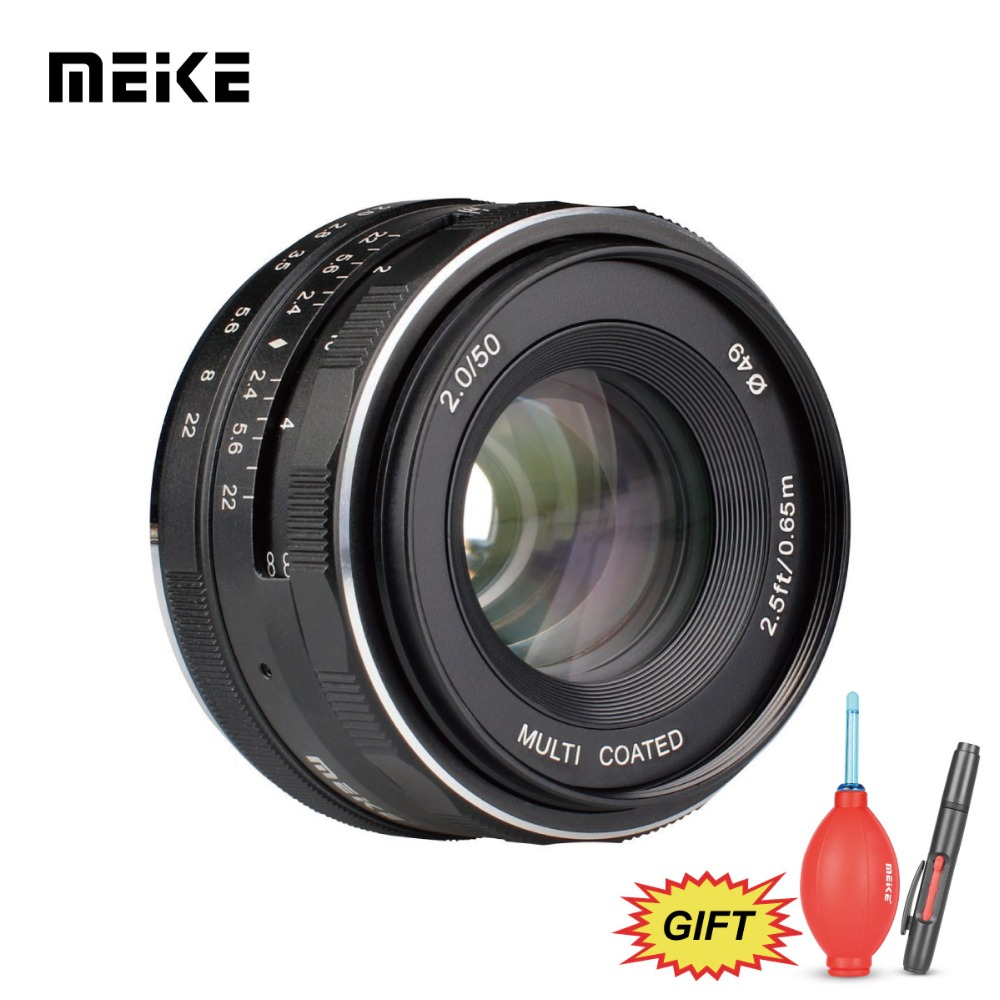 Meike MK 50mm F/2.0 Large Aperture Fixed Manual Focus Lens work for APS C  Nikon J1/J2/J3/J4/J5 V1/V2/v3/V4 cameras+Free Gift-in Camera Lens from  Consumer ...