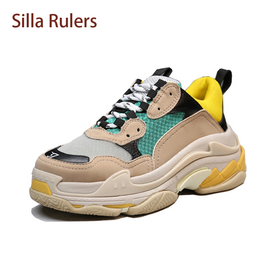 Silla Righelli 2018 Nuovo Progettista Sneakers Per Donna e Uomo Piatto Lace Up Piattaforma Creepers Femminile Casual Tenis Scarpa Femininos