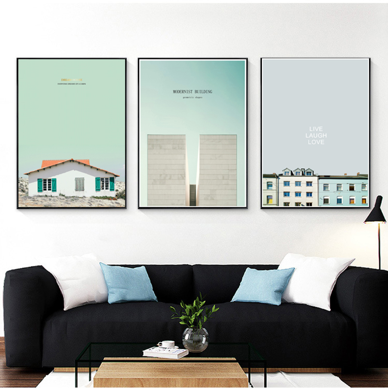 Blue Poster Nordic Wall Art Canvas Painting House Posters And Prints Abstract Painting Wall Pictures For Living Room Unframed