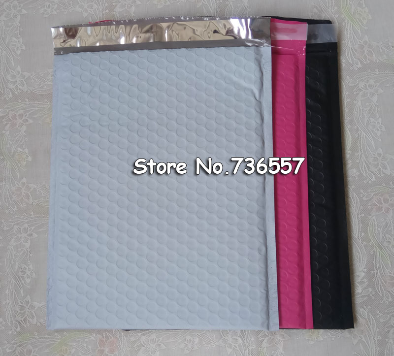 Pink Redish 318*457mm Usable Space Poly Bubble Mailer Envelopes Outer 338*457mm Padded Mailing Bag Self Sealing 20pcs