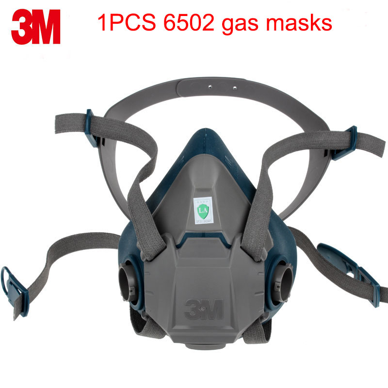 3M 6502 respirator mask Genuine security high quality respirator face mask With 6000/2000 series Anti-virus dust mask 50pcs high quality dust fog haze oversized breathing valve loop tape anti dust face surgical masks
