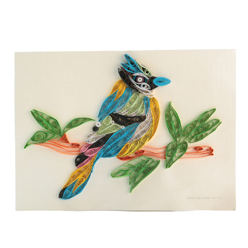Birds painting paper craft quilling art educational paper for Big quilling designs