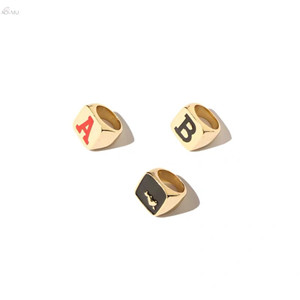 AOMU-Simple-Fashion-English-Letter-Alloy-Rings-For-Women-Metal-Heart-Ring-Geometric-Square-Punk-Ring