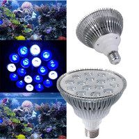 Led Reef Lights E27 54W Led Aquarium Grow Lights 12Blue 6White For Coral Reef Coral Hydroponics