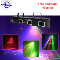 4 head DMX RGB full color Laser Scanner Beam Projector Equipment Stage Lighting PRO DJ Party Disco Show Professional Lights