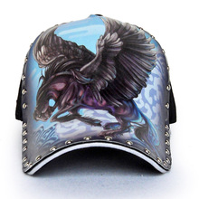 Original 3D printing Chinese style dragon peafowl Elephant skull eagle Baseball Cap