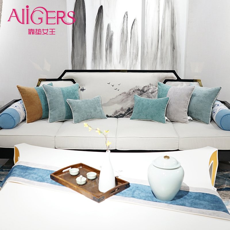 Avigers American Patchwork Cushion Cover Luxury Blue Modern Velvet Pillowcase Emoji Christmas Home Decorative Sofa Throw Pillow