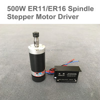 Бесплатная доставка 500 Вт ЧПУ шпинделя бесколлекторный ER11/ER16 DC мотор шпинделя + контроллер шагового двигателя для мельницы