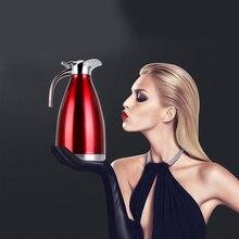 Mode 1.5L/2L Vakuum Thermos Wasserkocher Edelstahl Isolierung Thermoflasche Haushalt Esszimmer Warmwasser Topf Kaffeekanne