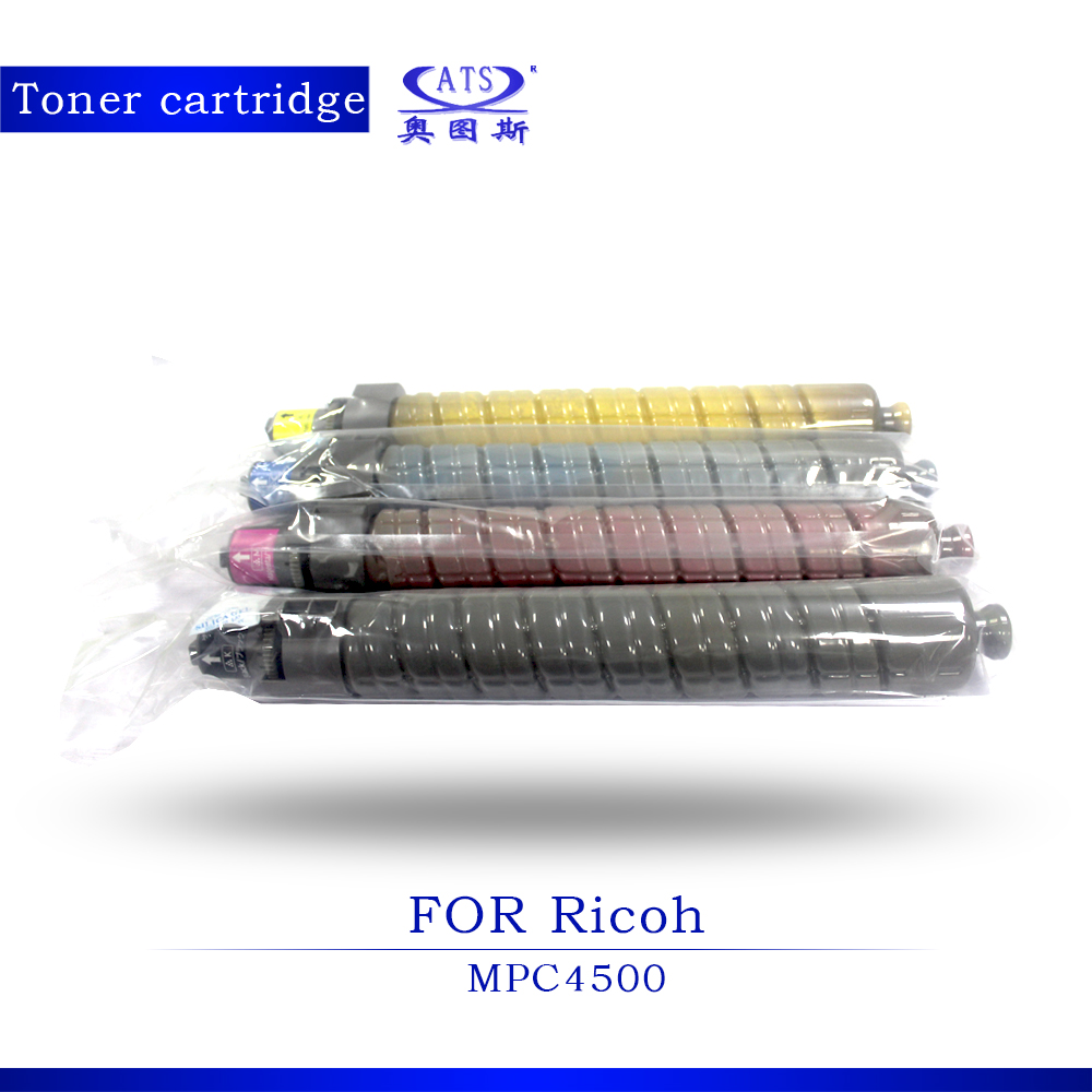 4PCS/SET CMYK Photocopy Machine Toner Cartridge for Ricoh Compatible MPC4500 3500 Copier Parts MPC 4500 copier spare parts
