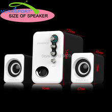 2.1 Speaker System with Subwoofer for PC, Computer, Laptop, Smartphones, Headphone, MP3 MP4 Players,Tablets, Gaming & HDTV Black