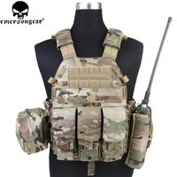 Emersongear LBT6094A Style Tactical Vest With 3 Pouches Hunting Airsoft Military Combat Gear EM7440 Multicam AOR Khaki Mandrake