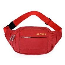 цена Waterproof Chest Handbag Fashion For Women Men Waist Bag Colorful Unisex Waistbag Belt Bag Mobile Phone Zipper Pouch Packs Belt