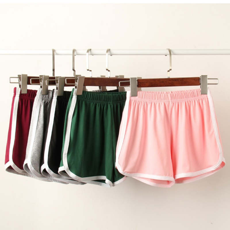 Women's Casual Candy Colors   Shorts   High Waist   Shorts   Female Exercise Running   Shorts   Plus Size 5 Colors