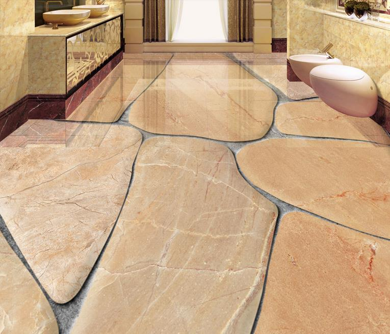 Aliexpress Com Buy European Style 3d Floor Tiles Mural: Custom 3d Flooring Luxury European Cobblestone 3d Floor
