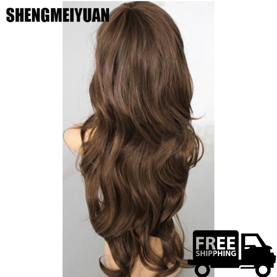 New Sexy Womens Girls Fashion Style Wavy Curly Long Hair Human Full Wigs Colors 088C Beauty Synthetic Wigs