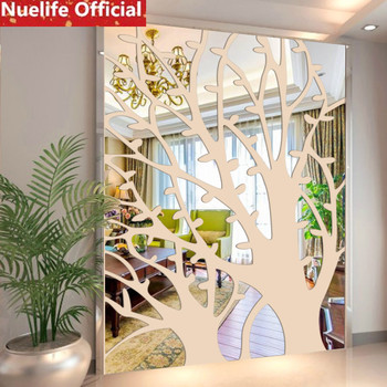 120x160cm large Rich tree Acrylic mirror stickers porch living room bedroom TV background restaurant decorative wall stickers