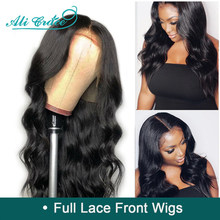 Ali Grace Full Lace Human Hair Wigs With Baby Hair 130% 150% Density Pre Plucked Brazilian Body Wave Full Lace Wig Remy Hair(China)
