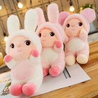 Cartoon Soft Plush Turned Mouse Bunny Dress Girl Doll Pink Rabbit Home Furnishings Car Decorations Children Girl Birthday Gift